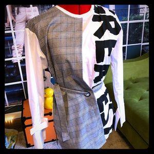 Tops - NWOT punk mod dress shirt tunic🖤